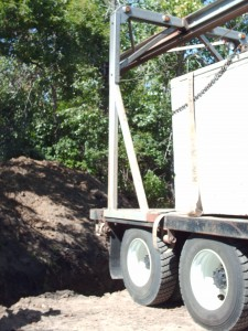 Septic tank on Beam truck